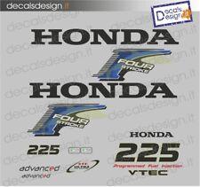 Adesivi motore marino fuoribordo Honda 225 cv four stroke gommone barca stickers