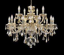 Chandelier Lighting Crystal Chandeliers Cognac Golden Teak Color! H 31