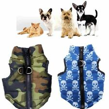 Dog Cat Padded Clothes Top Vest Waterproof Winter Warm Pet Jacket  Coat Apparel