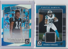 2017 Optic Curtis Samuel rookie card lot / Silver Prizm / Player worn relic