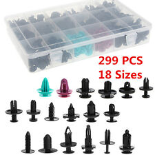 299pcs Car Push Pin Rivet Trim Fastener Moulding Clips Assortment Kit 18 Sizes