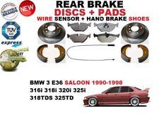 für BMW 3 E36 Limousine Bremsscheiben SET HINTEN+BELÄGE SET +Sensor+