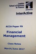 ACCA F9 Electronic Notes