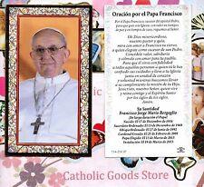 Oracion por el Papa Francisco - Spanish - Gold Trim  Paperstock