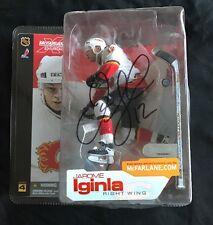 JAROME IGINLA AUTOGRAPHED CALGARY FLAMES McFARLANE FIGURE JSA/COA NHL MVP