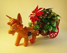 Vintage Early 1960's Christmas Donkey with Cart based on Dominick the Donkey