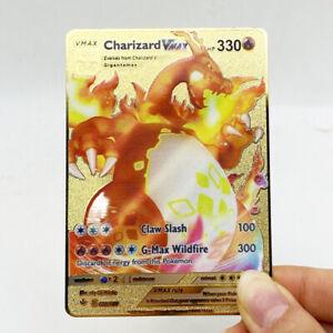 Charizard SHINY V Pokemon Card Shiny Gold Metal Champion's Path Folder Book Bulk