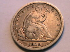 1838 Small Stars Seated Dime Choice XF+/AU Lustrous Light Tone USA 10 Cent Coin