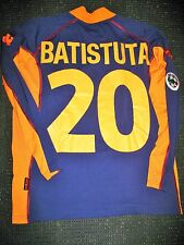 Authentic Batistuta As Roma Kappa 2001 - 2002 Jersey Maglia Argentina Shirt
