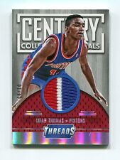 Isiah Thomas Jersey Patch 4/10 2015-16 Threads Century Collection Materials #7
