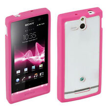 Roxfit Gel Shell Pink Case for the Sony Xperia U,PINK, NEW