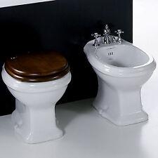 Sanitari bagno tradizionali Simas Arcade stile classico retrò sedile legno noce