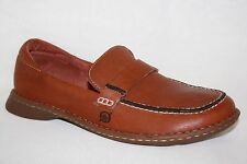 BORN BROWN LEATHER SLIP ON CASUAL LOAFERS FLATS SHOES WOMENS SZ 7 M