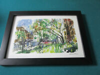 "MISHA LENN SERIOLITHOGRAPH ""COMMONWEALTH IN BLOOM"" PROFESSIONALLY FRAMED"