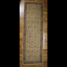 "Woven Jute Runner Rug, Ornate Pattern, Hand Made in India, 26"" x 83"""