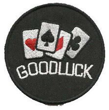GOODLUCK Casino Gambler Poker Embroidered Iron on Patch