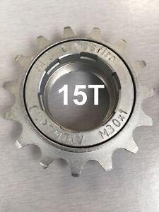 "ACS Crossfire BMX freewheel 15T x 3/32"", silver, M30x1 threads fits 1/8"" & 3/32"""