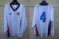 VINTAGE Maillot OLYMPIQUE LYONNAIS LYON OL porté n°4 signé match worn shirt XL