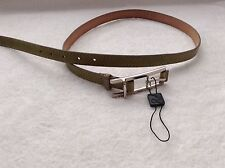 BNWTT 100% Authentic D&G, Dolce Gabbana, Mens Olive Green Leather Belt. 90