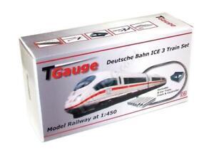 T Gauge 1:450 Scale German Railways ICE 8 Car Starter Set w/120mm Loop Track