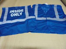 "7 Lot ASN Blue/Silver Mesh ""Inside Only"" Reflective Velcro Breakaway Safety Vest"