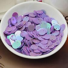 Loose Sequins Round Flat 10mmx 300 Pieces Holographic Sewing Art Craft Jewellery