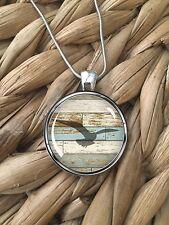 Seagull Beach Wood Ocean Life Beach Island Pendant Silver Chain Necklace NEW