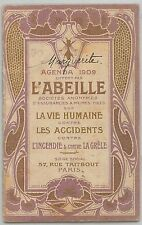 61039 - VINTAGE AGENDA - FRANCE 1909: L'abeille THE BEE Apiculture