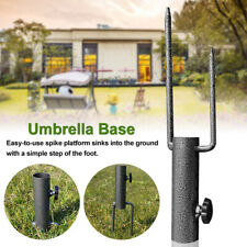GREY CAST IRON UMBRELLA PARASOL BASE STAND PATIO OUTDOOR GARDEN HEAVY