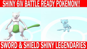 Pokemon Sword & Shield 6IV Shiny Mewtwo & Mew Battle Ready!!