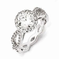 Cheryl M Sterling Silver CZ Ring Size 7 #1175