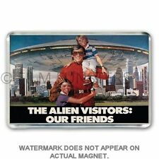1980's TV NOSTALGIA ' V ALIENS MINI SERIES'  POSTER JUMBO Fridge / Locker Magnet