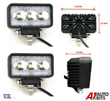2X HIGH POWER 12V 24V LED WORK LAMPS FLOOD LIGHTS TRUCK CAR 4X4 TRAILER CAMPER