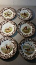 Spode woodland set of 6 salad plates includes 6 different designs-new