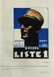 1939 LUDWIG HOHLWEIN Propaganda Poster Germany World War 2 Sachplakat Military