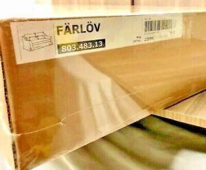 IKEA FARLOV LOVESEAT SLEEPER SOFA COVER DJUPARP VELVET YELLOW-BEIGE 803.483.13
