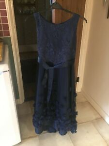 Monsoon Navy Blue Girls Prom/Party/Bridesmaid Dress 14-15 years