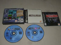 PLAYSTATION PS1 VIDEO GAME METAL GEAR SOLID COMPLETE BLACK LABEL SONY PS2 KONAMI