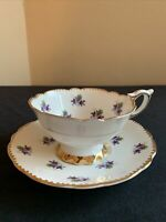 Royal Stafford SWEET VIOLETS Bone China Tea Cup & Saucer