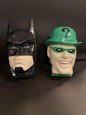 Retro 1995 Kenner MICRO MACHINES BATCAVE BATMAN HEAD & JOKER HEAD
