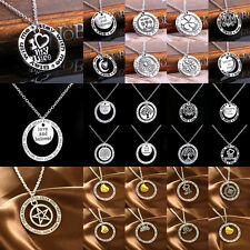 Family Necklace Pendant Charm Jewelry Dad Mom Tree Circle Heart Sis BFF Peace