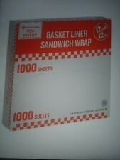 "Restaurant Deli Paper Food / Basket Liner Wrap, 12""x12"" Red Checkered, 1000ct"