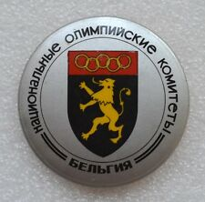 BELGIUM Official Emblem 1984 Summer Olympic Games Los Angeles Olympiad