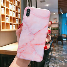 Phone Case Marble Pattern Pastel Frosted Soft Silicone Back Cover For CellPhone