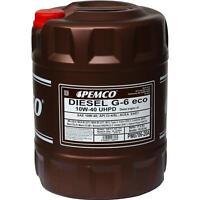 20 Liter PEMCO DIESEL G-6 UHPD 10W-40 Eco API CI-4/SL Motoröl synthetisch Öl
