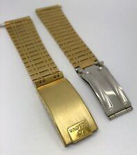 Bulova Vintage Golden Men's Watch Stainless Steel Bracelet 18mm