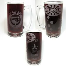 Mule Kick Etched Glass Beer Mug. Hand Made Cod Zombies Inspired Mule Kick Mug