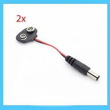 2x Clip Snap 2.1 X 5.5 mm Dc Plug a 9 V batería  accesorios para Arduino