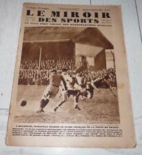 MIROIR SPORTS 1931 #577 FOOTBALL MARSEILLE OM COUPE 1/16 RUGBY BOXE GAVALDA