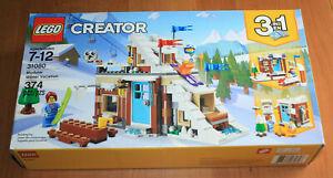 Lego Creator 3 in 1 Modular Winter Vacation 31080. New; sealed box. Box has wear